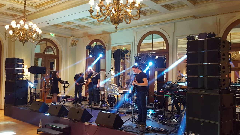 live band setup - grande bretagne